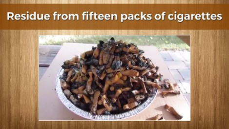 Residue from Cigarette smoking